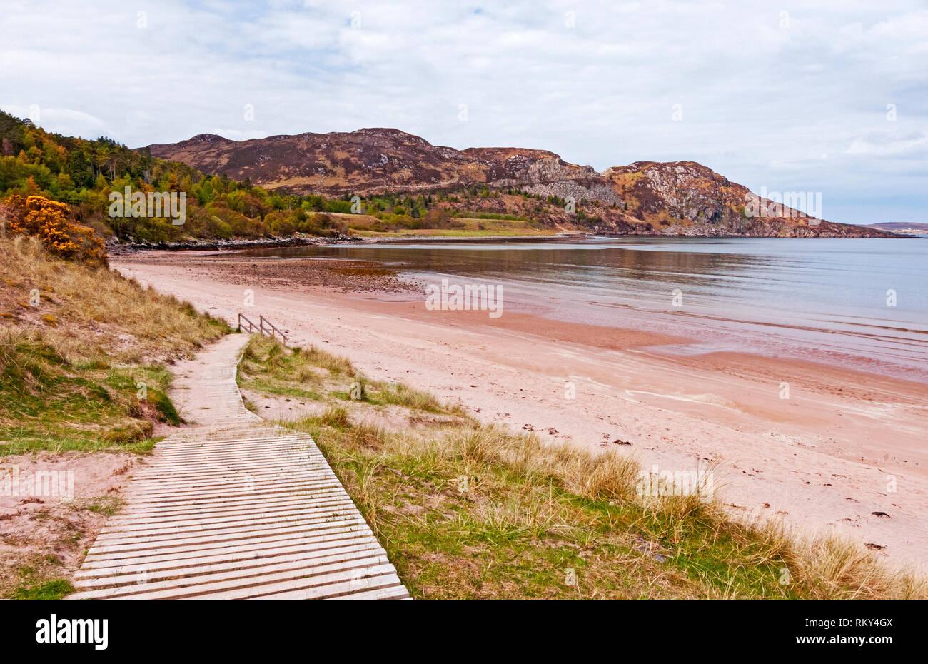 Gruinard Beach and Bay, Scotland - Stock Image