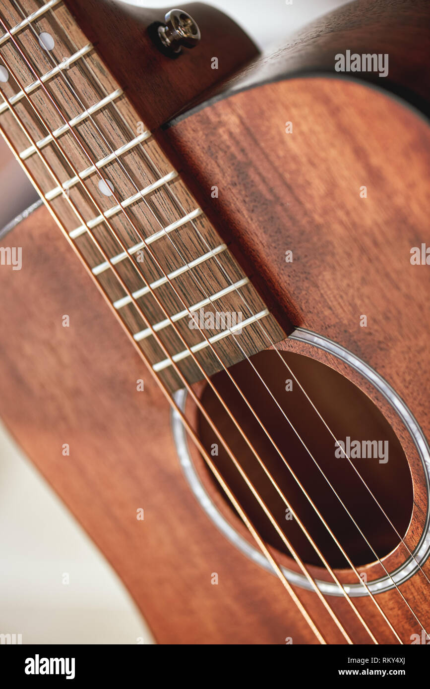 Guitar Anatomy Close Up Photo Of Acoustic Guitar Sound Hole With Metal Strings Music Equipment Musical Instruments Music Concept Stock Photo Alamy