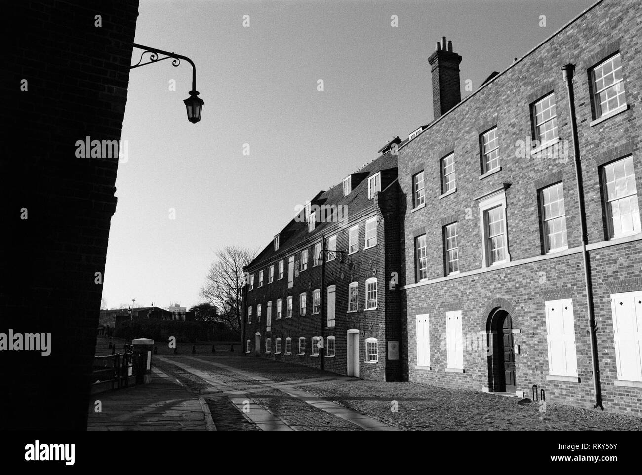 The 18th century House Mill building on Three Mills Island, Bromley-By-Bow, East London UK - Stock Image