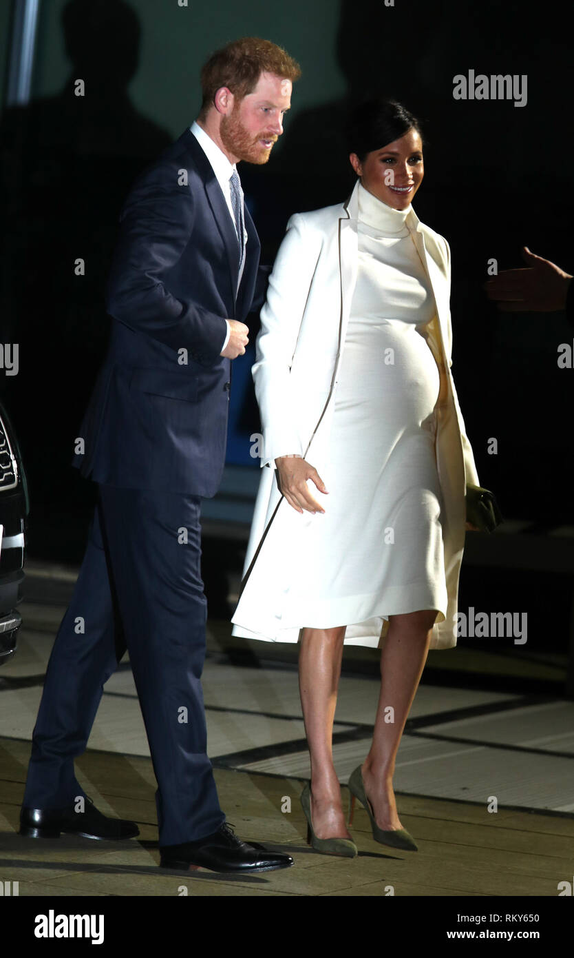 fe7d851bc The Duke and Duchess of Sussex arrive at the Natural History Museum in  London to attend a gala performance of The Wider Earth.