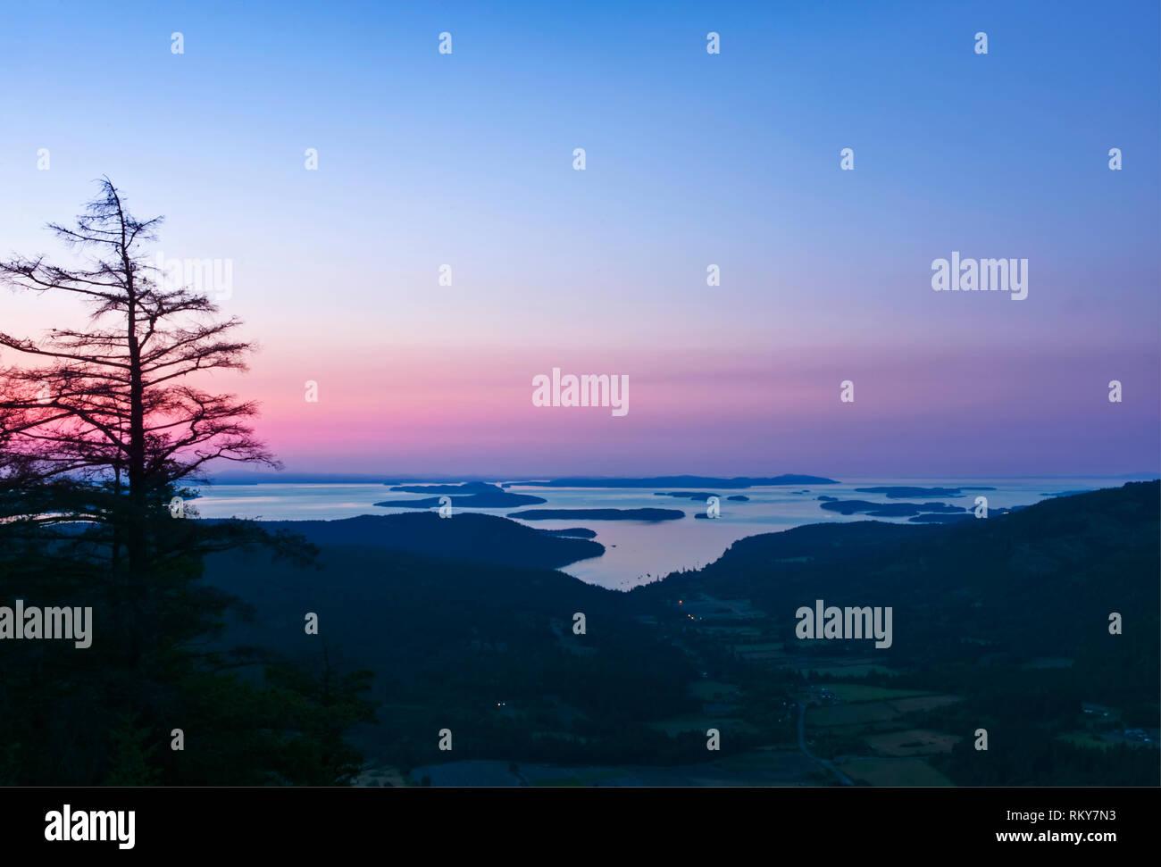 Canadian Gulf Islands At Dawn Stock Photo 236012031 Alamy