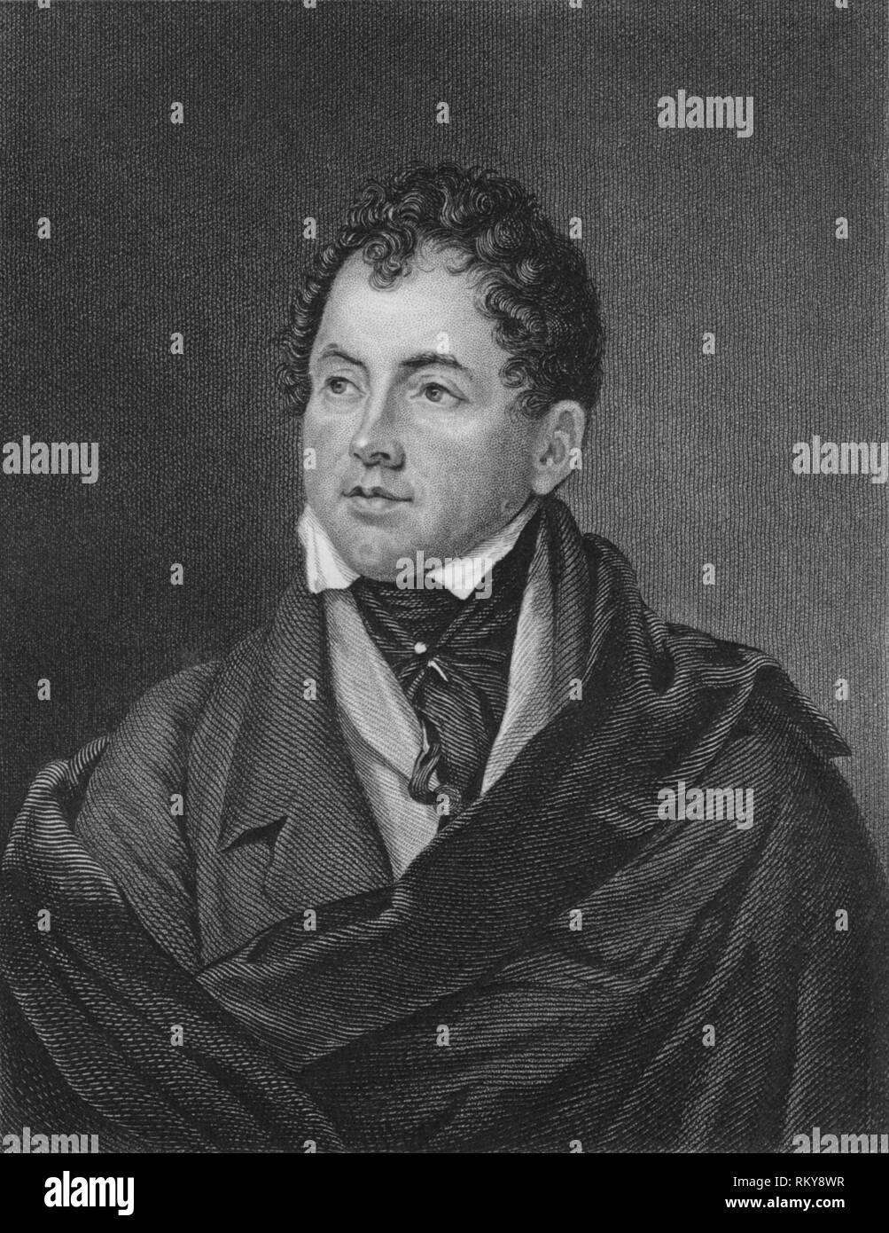 'Thomas Moore', early 19th century.  Creator: G Adcock. - Stock Image