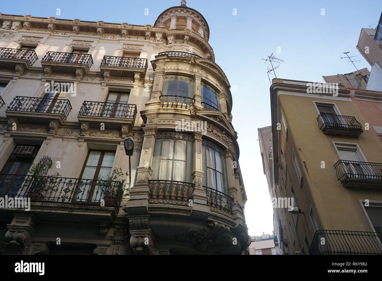 Architect Francesc Borras Soler's Casa Boule, also known as Cal Guardiola-Boule. Reus, Tarragona, Catalonia, Spain, Europe, - Stock Image