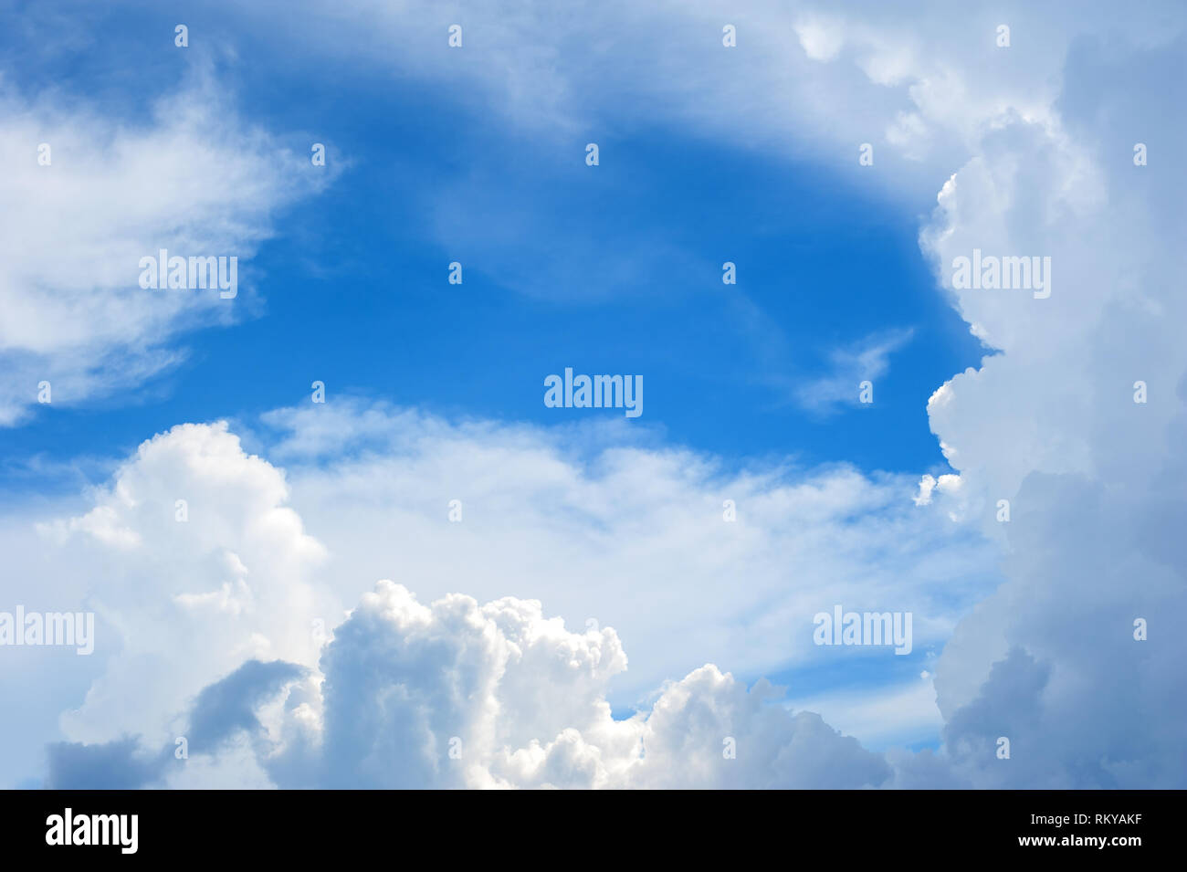 Dynamic sky and clouds with copy space  Abstract wallpaper
