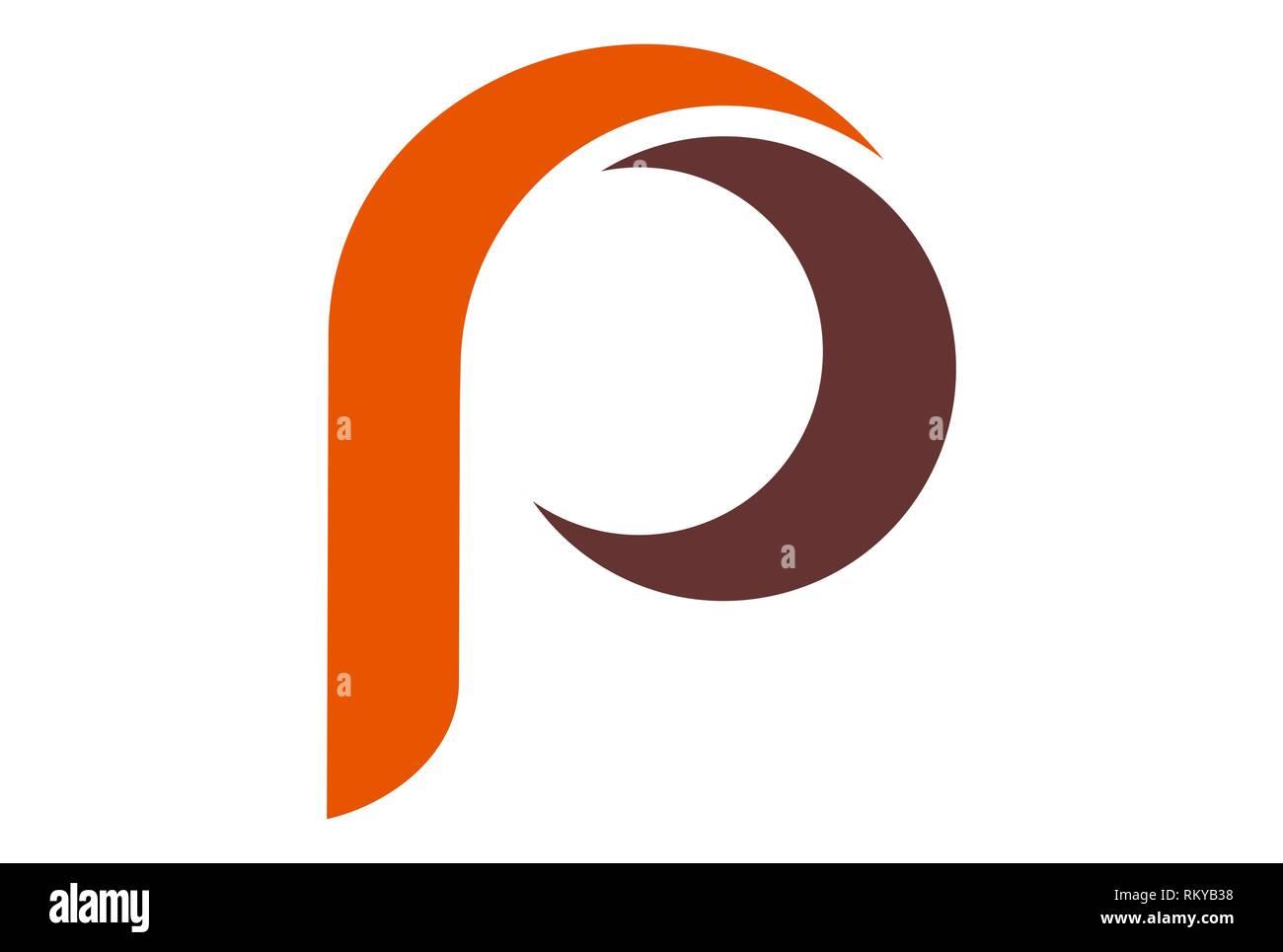 letter p vector logo icon vector concept flat design Stock