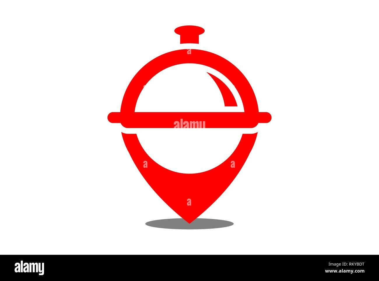 Restaurant Location Vector Logo Icon Vector Concept Flat