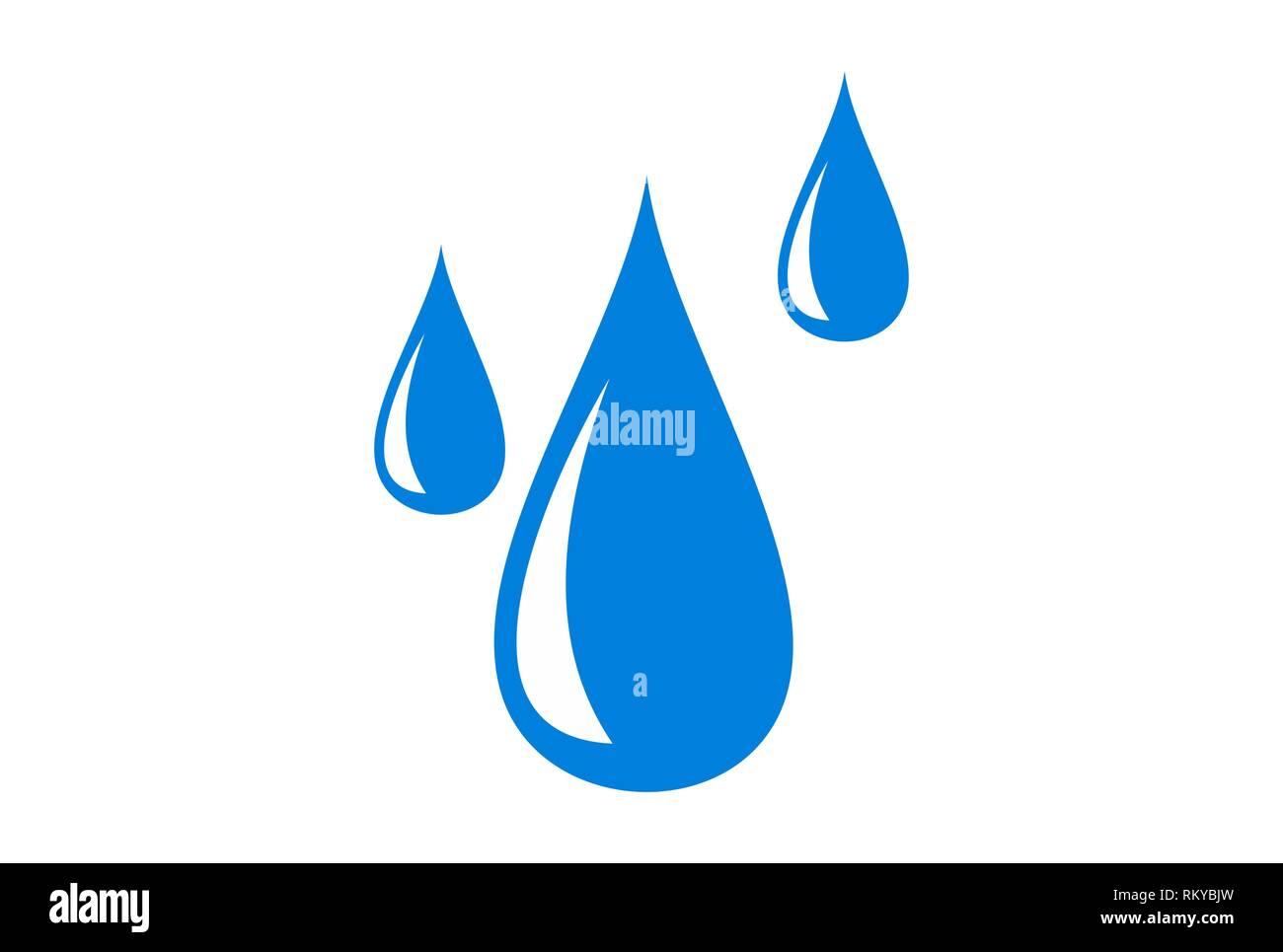 water fall logo icon concept vector concept flat design - Stock Image