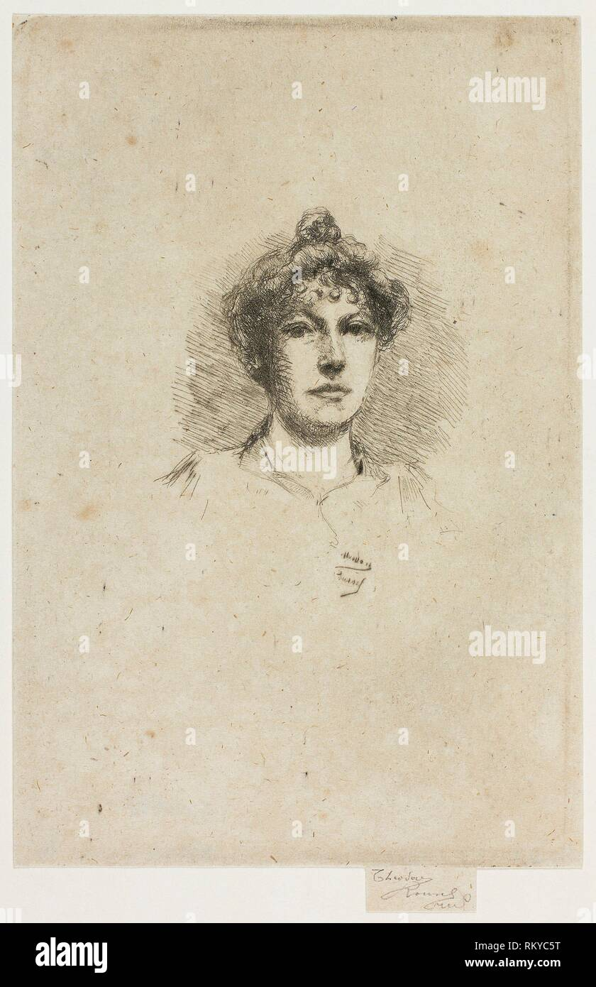 Portrait of Miss Edith Austin - 1895–1900 - Theodore Roussel ...