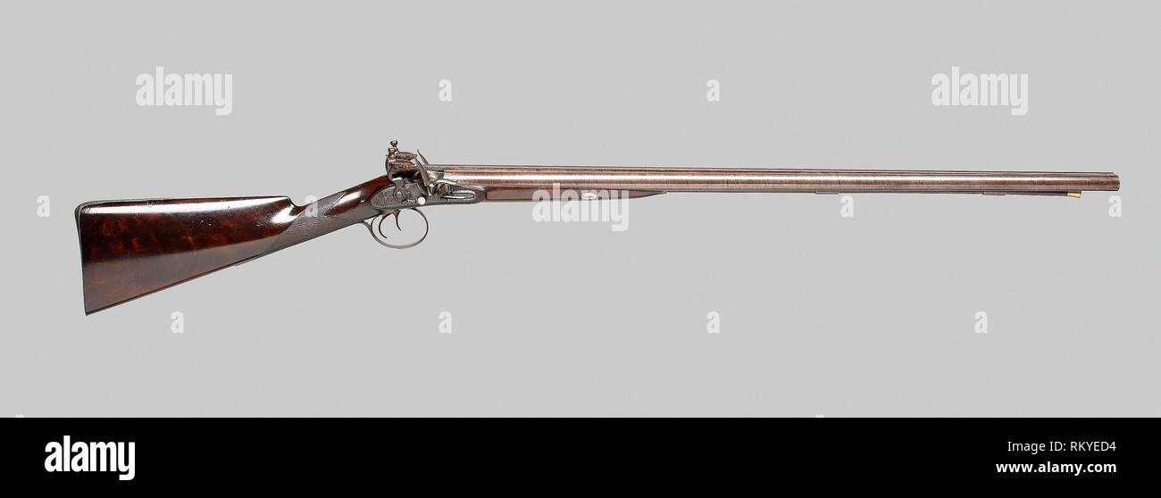 Double-Barreled Flintlock Fowling Piece - About 1820