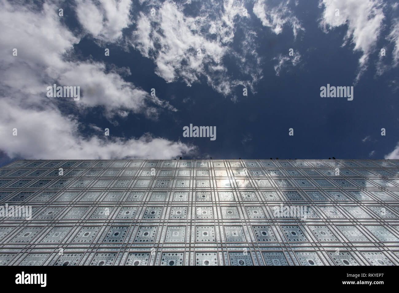 The Arab World Institute designed by Jean Nouvel - Stock Image
