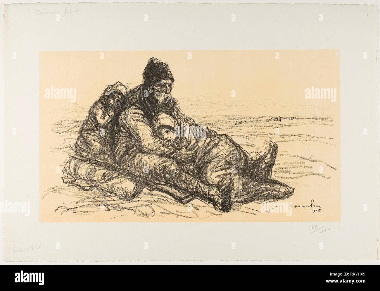 Serbian Cavalry, Second Episode - 1916 - Théophile-Alexandre Steinlen French, born Switzerland, 1859-1923 - Artist: Théophile-Alexandre Pierre - Stock Image