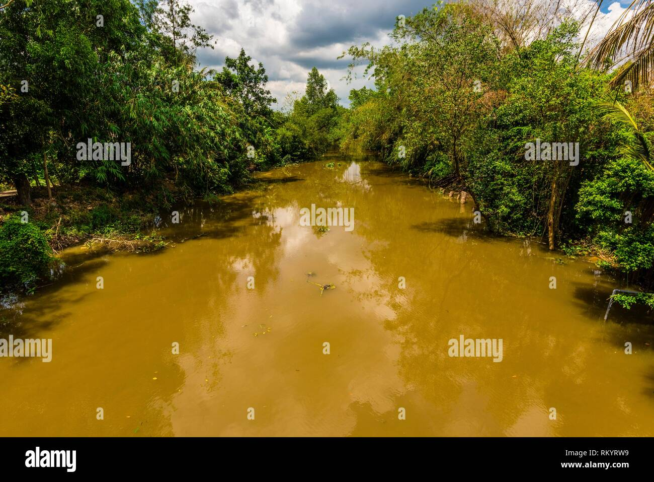 Backwaters, Cai Lay, Mekong Delta, Vietnam. - Stock Image