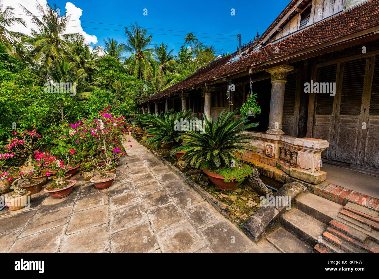 Local house, Cai Lay, Mekong Delta, Vietnam. - Stock Image