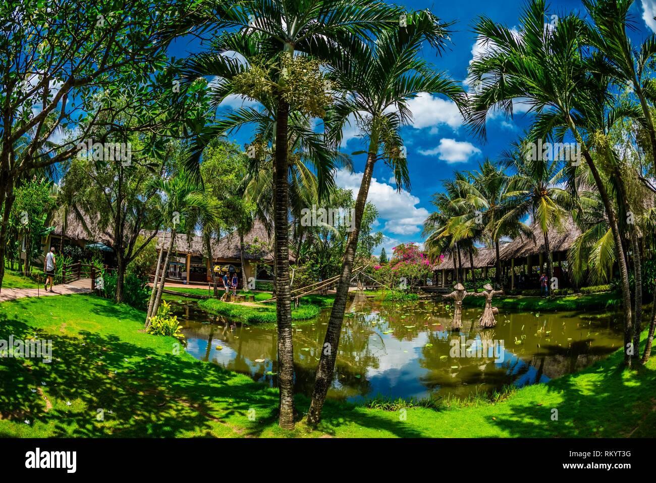 Mekong Rest Stop, Chau Thanh, Vietnam. - Stock Image