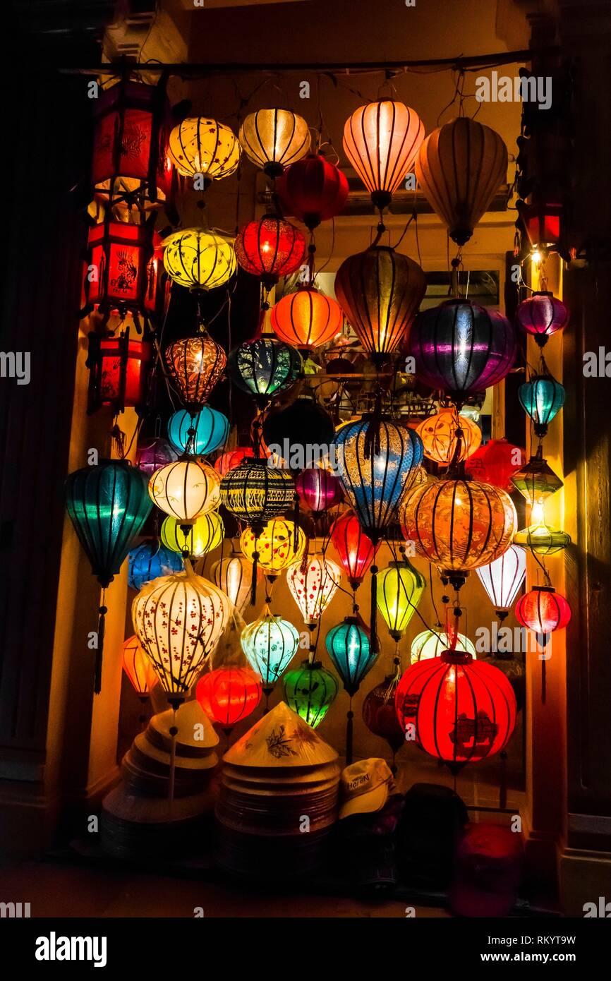 Lanterns Hoi An Full Moon Lantern Festival Hoi An Vietnam Stock Photo Alamy
