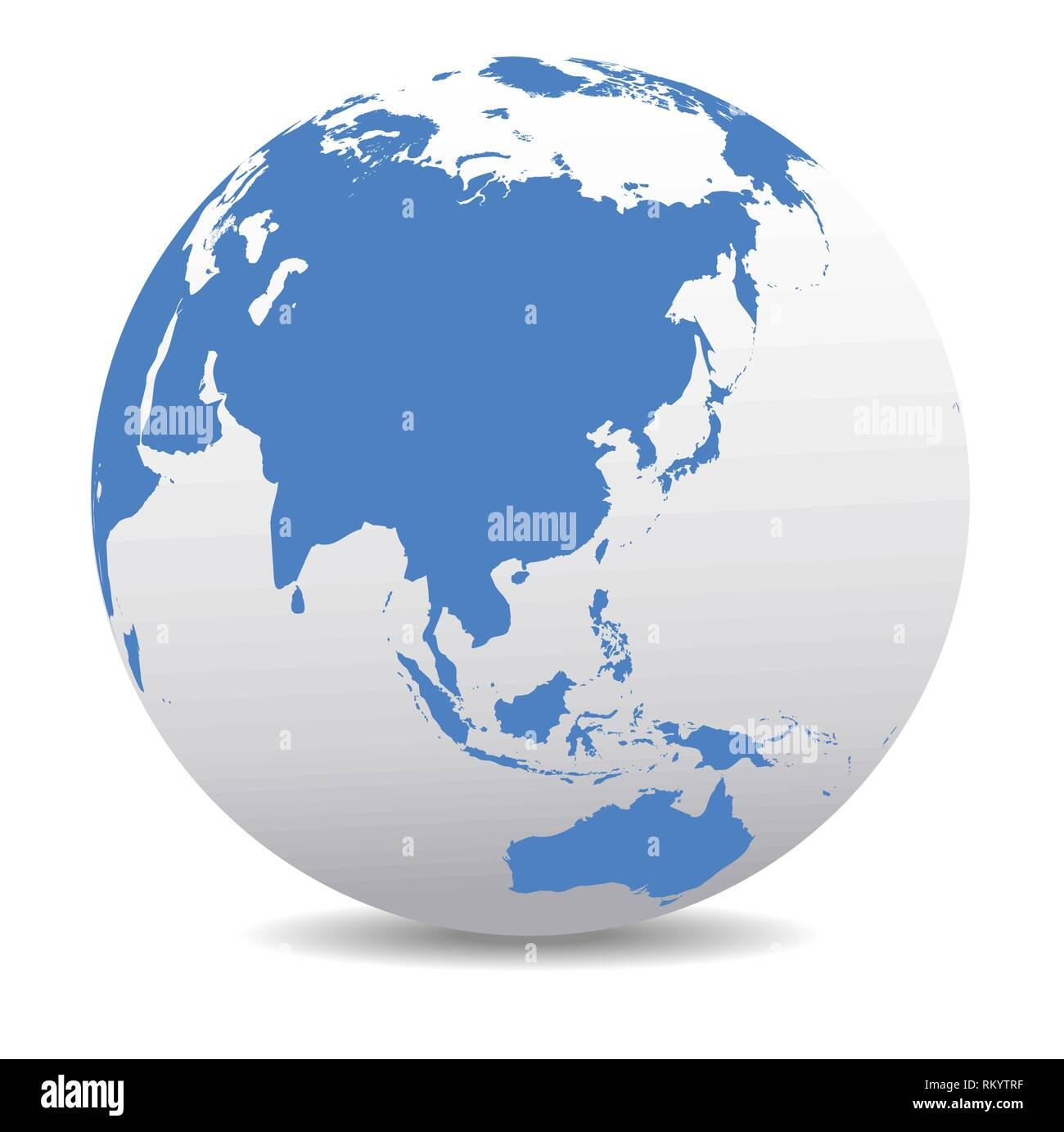 China, Japan, Malaysia, Thailand, Indonesia, Global World - Stock Vector