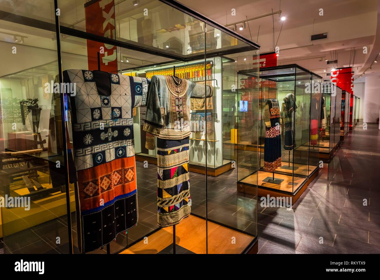 The exhibition building dedicated to Southeast Asian culture, Vietnam Museum of Ethnology, Hanoi, northern Vietnam. - Stock Image