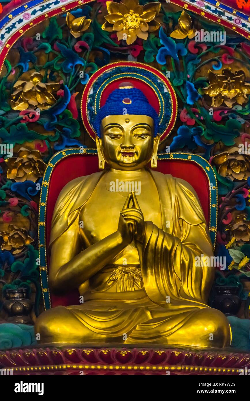 Yuantong Temple is the most famous Buddhist temple in Kunming, Yunnan Province, China. It was first built in the late 8th and early 9th century, the - Stock Image