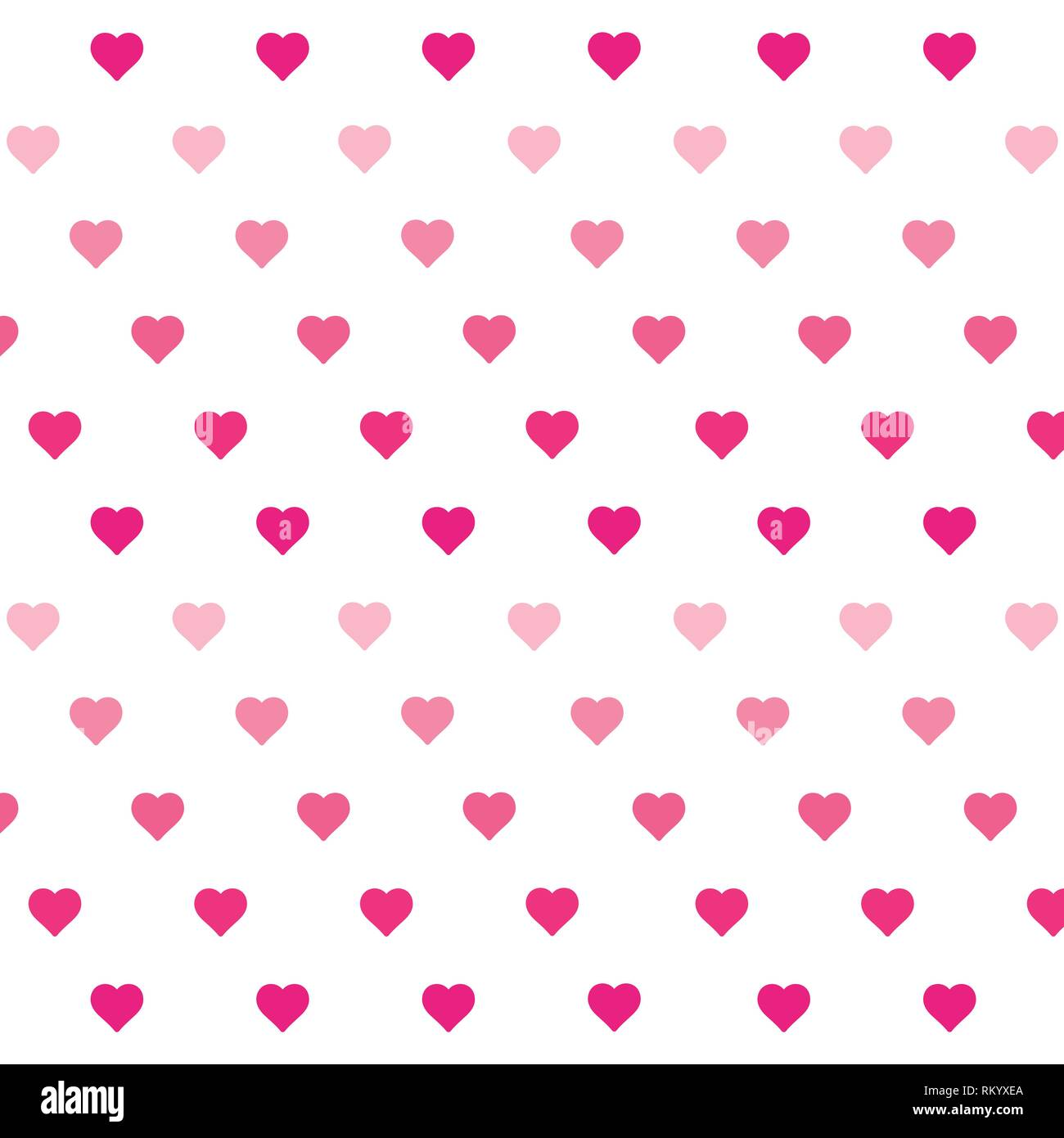 Heart Background Vector Pattern St Valentines Day Or