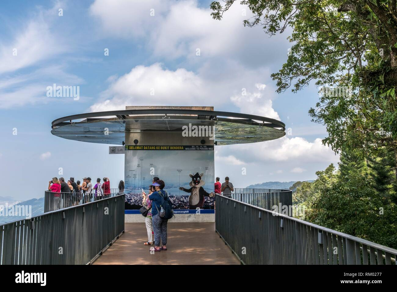 Penang Hill look-out point, Malaysia. - Stock Image