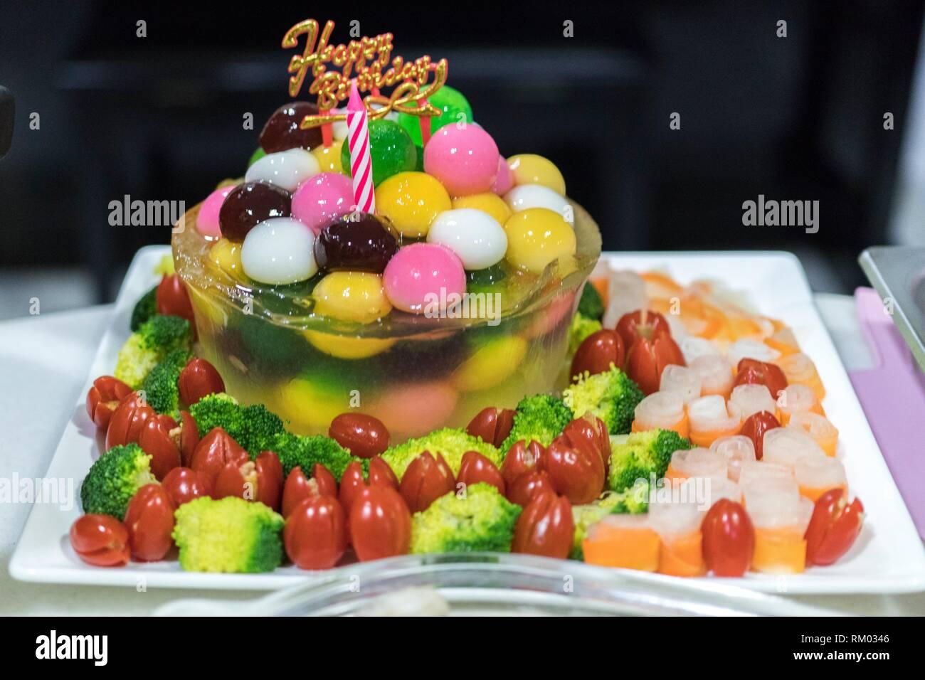 Wondrous Pudding Birthday Cake Kuching Sarawak Malaysia Stock Photo Personalised Birthday Cards Veneteletsinfo