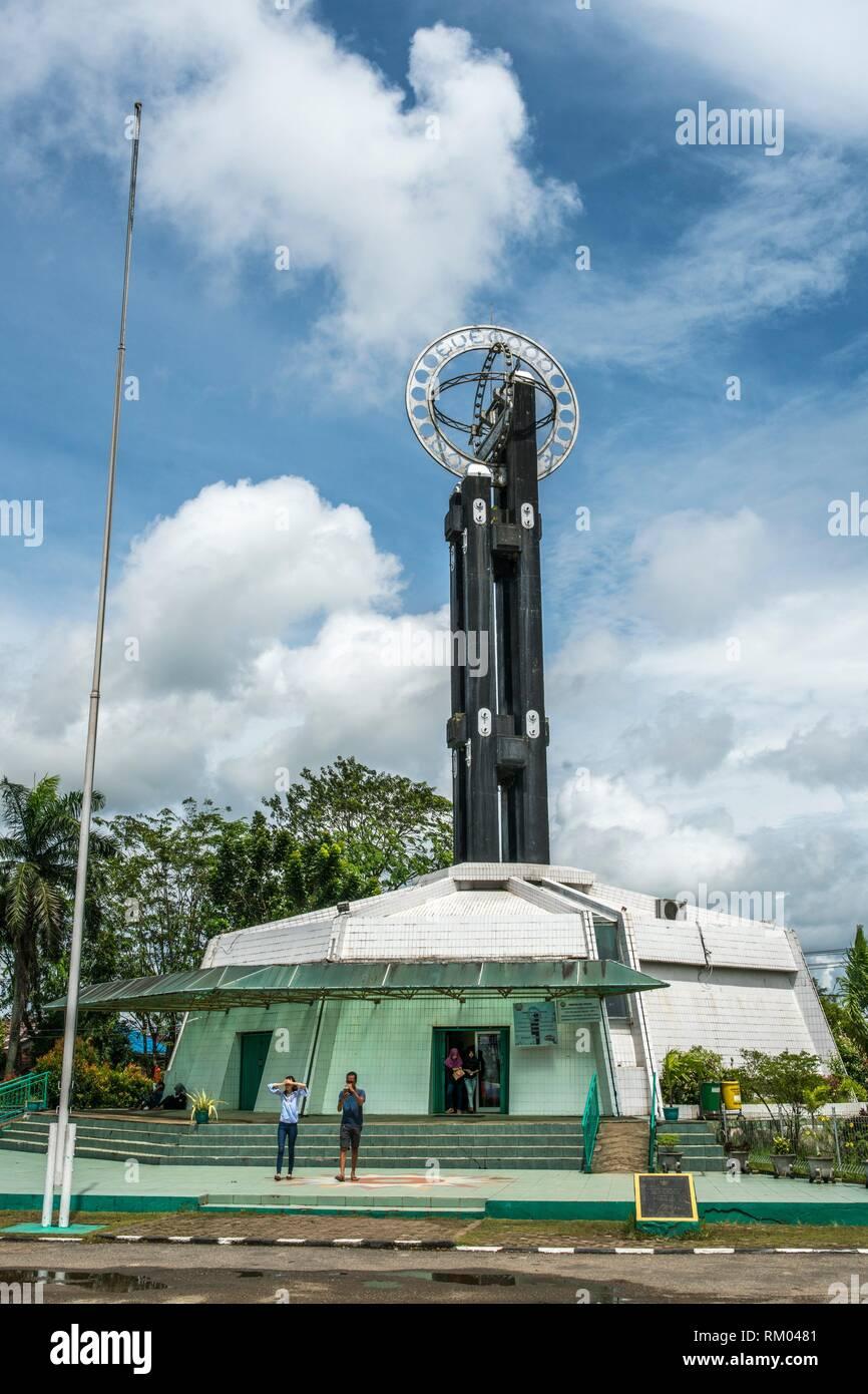 Khatulistiwa( the Equator), Pontianak, West Kalimantan, Indonesia - Stock Image