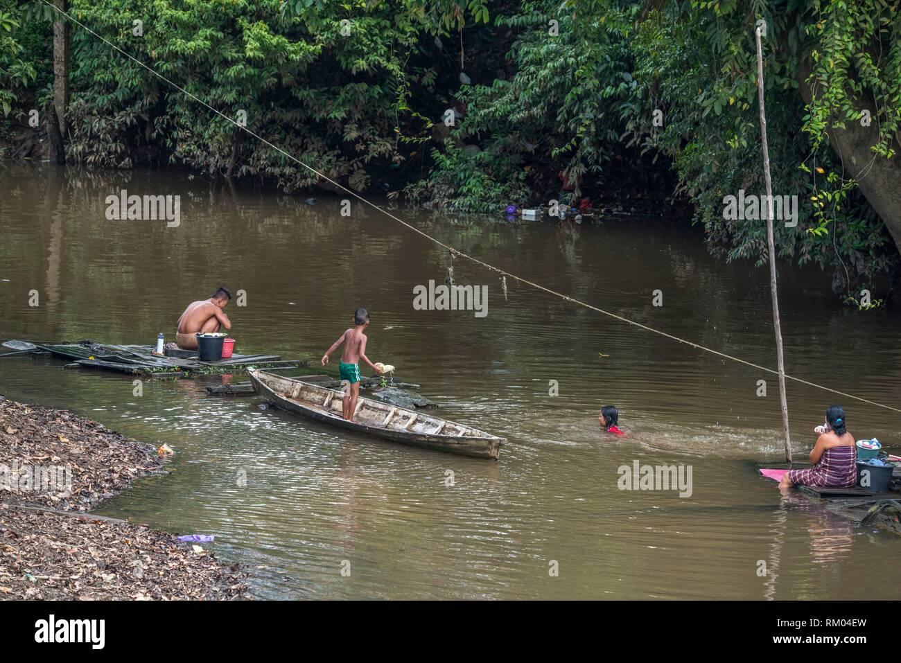 Sosok, Western Kalimantan, Indonesia - Stock Image