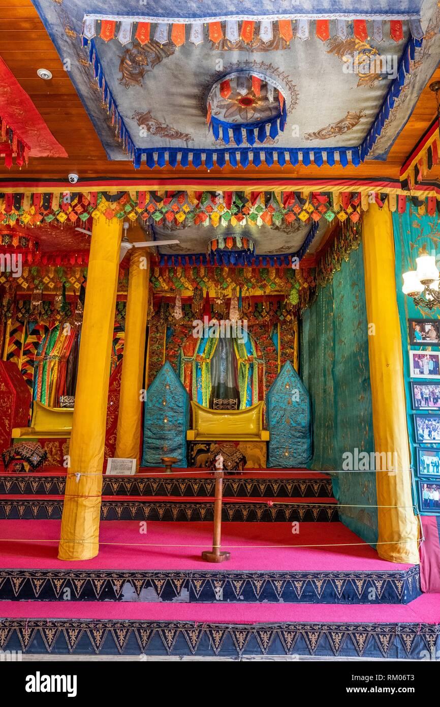 The interior of West Sumatra pavilion in Taman Mini Indonesia Indah Park, Jakarta - Stock Image