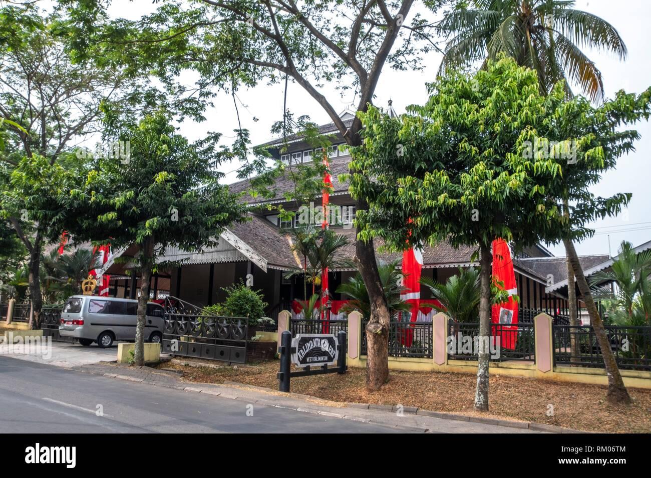 Kalimantan house in Taman Mini Indonesia Indah Park, Jakarta - Stock Image