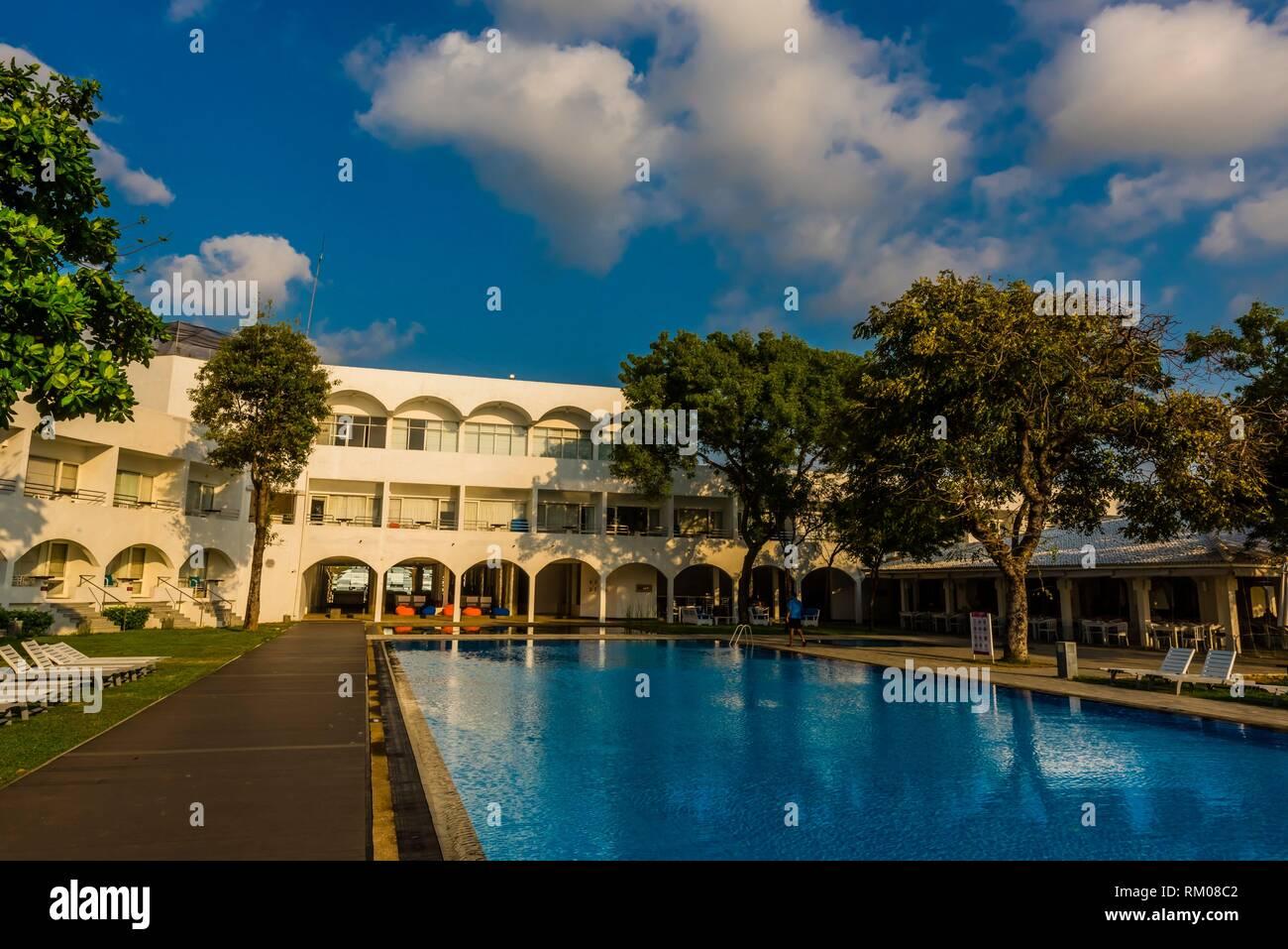 Trinco Blu by Cinnamon beach resort, Upuvali Beach, Trincomalee, Sri Lanka. - Stock Image