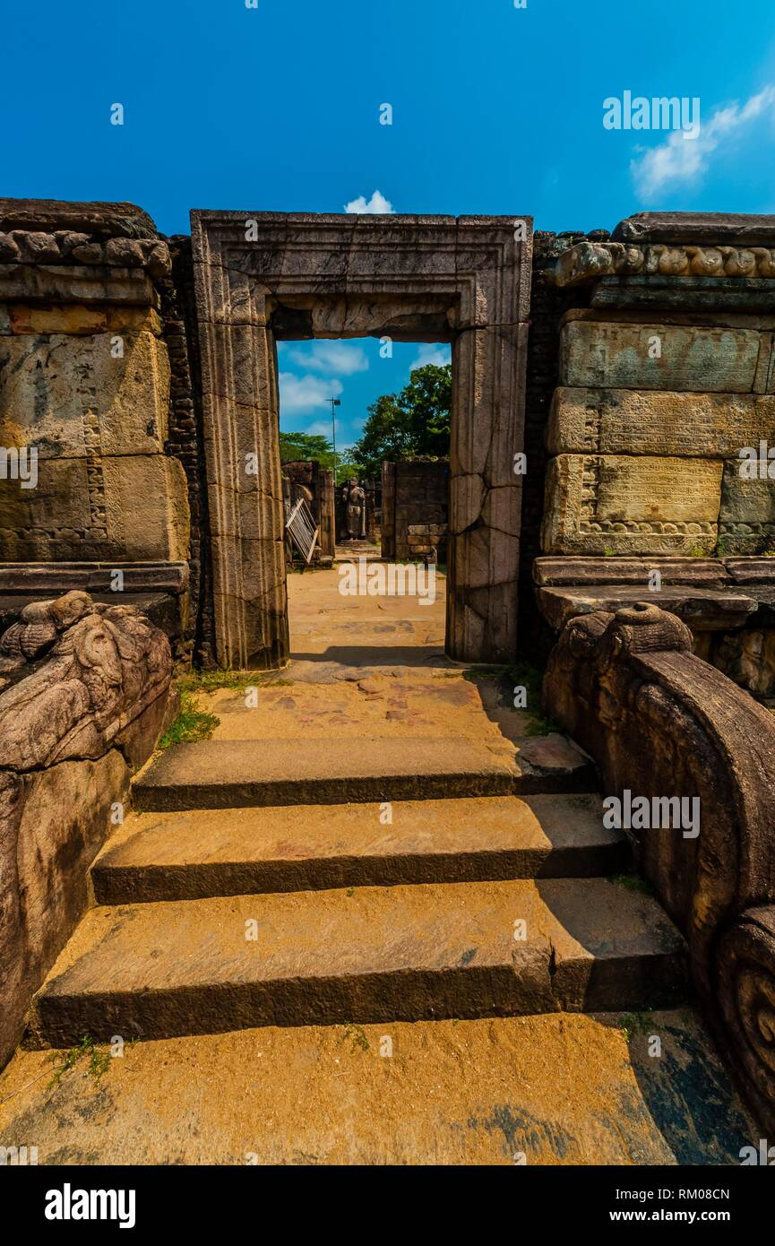 Dalada-Maluva, Sacred Quardrangle, Buildings on this quadrangle were either shrines for the Tooth-Relico or connected with its worship. - Stock Image