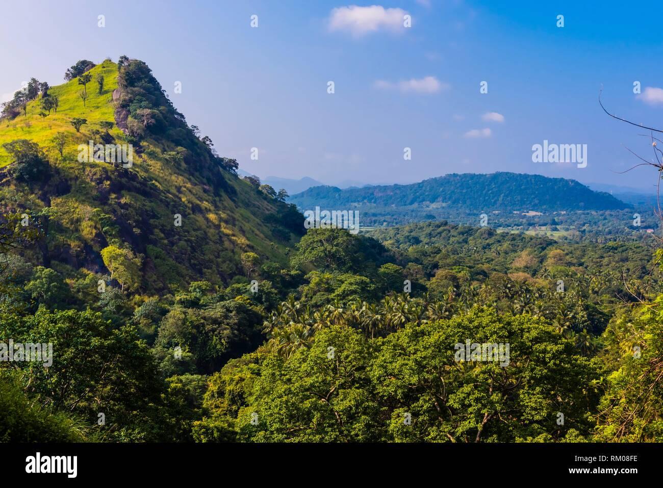 Mountains, Dambulla, Central Province, Sri Lanka. Stock Photo