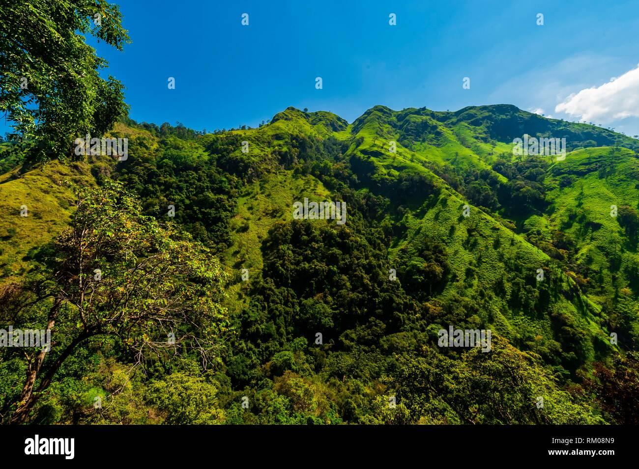 Ella Gap, Ambagollapathana, near Ella, Uva Province, Sri Lanka. - Stock Image