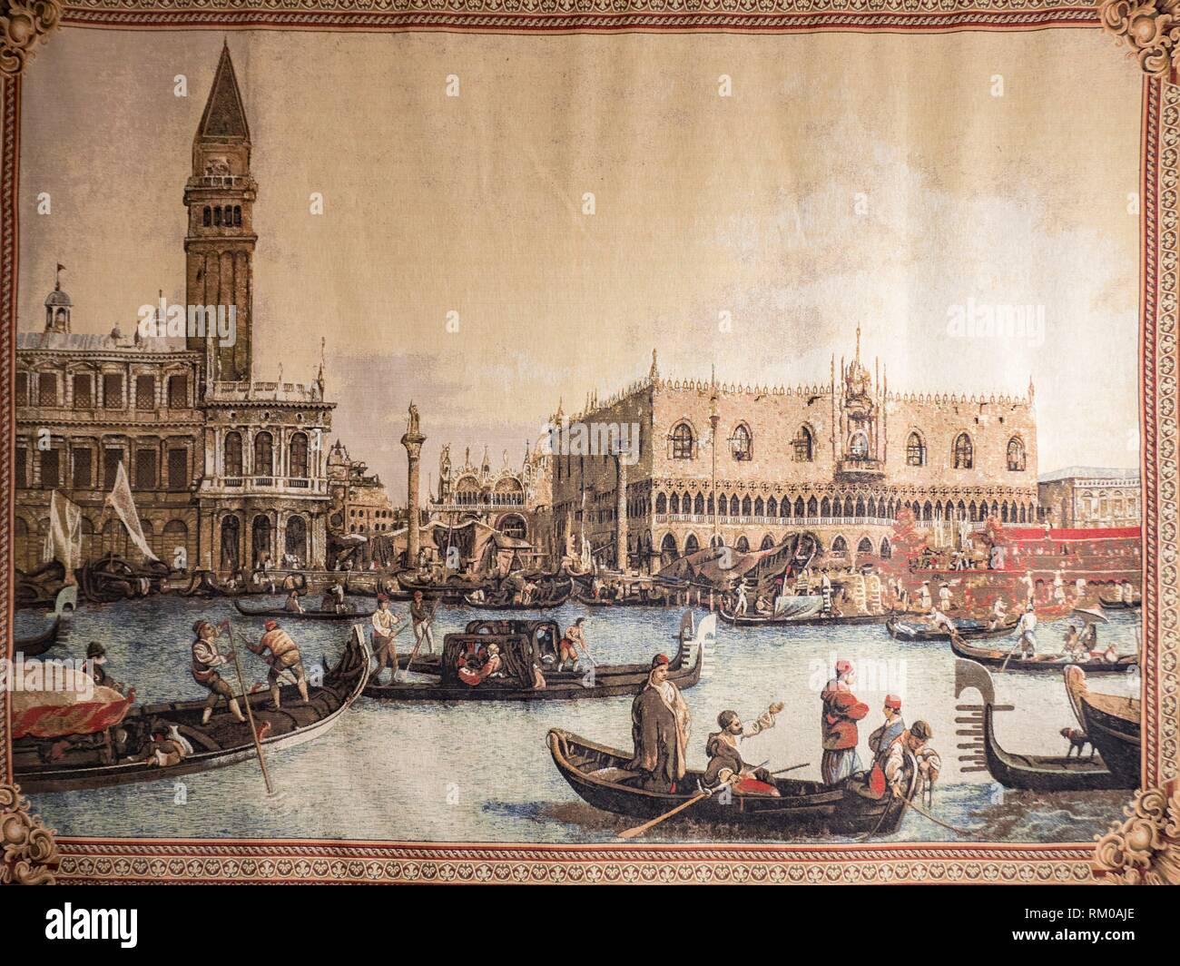 Rug, Island of Burano, Venice, Italy. - Stock Image