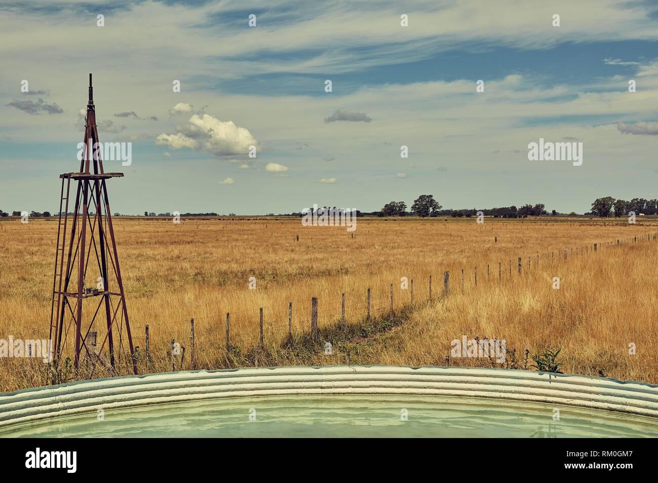 Rural landscape impressed - Stock Image