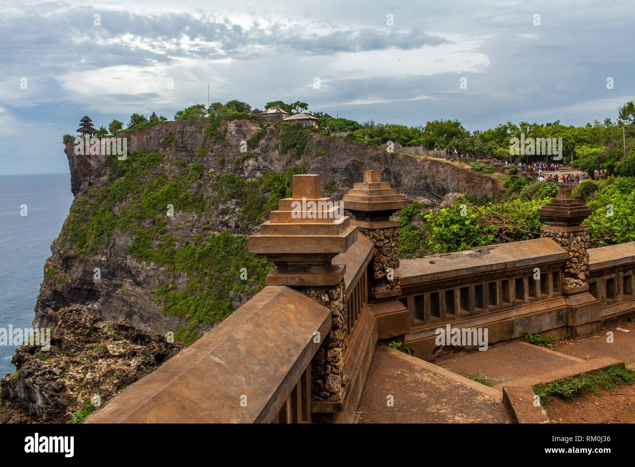 Uluwatu temple (Pura Luhur UluWatu) and cliffs. Uluwatu. Bali, Indonesia, Asia Stock Photo