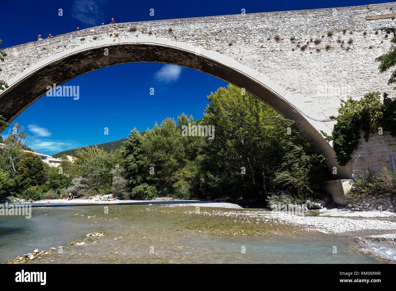 Nyon, Eygues river, France, Europe - Stock Image