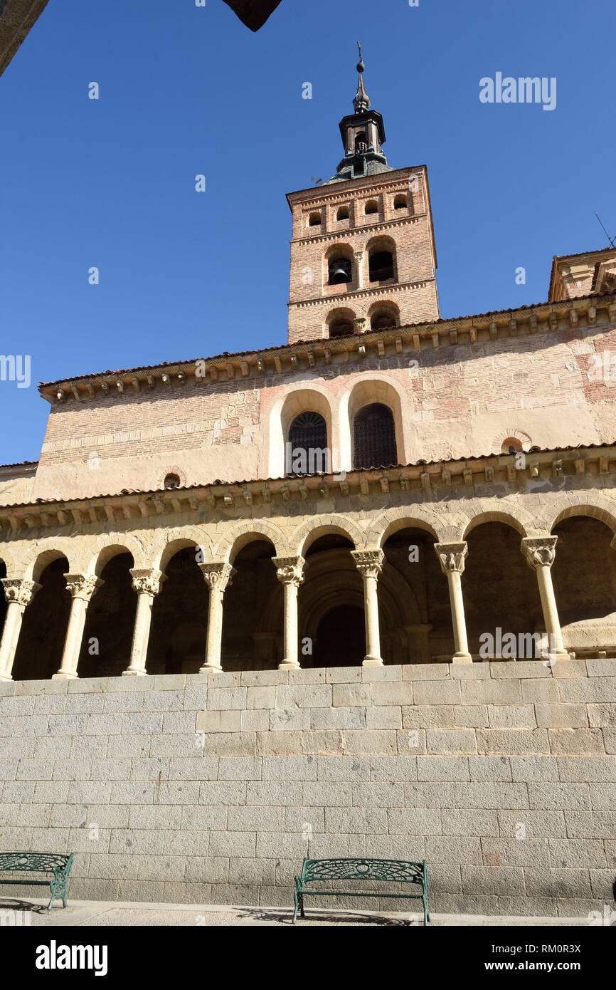 San Martin church, Segovia, Castilla-Leon, Spain. - Stock Image