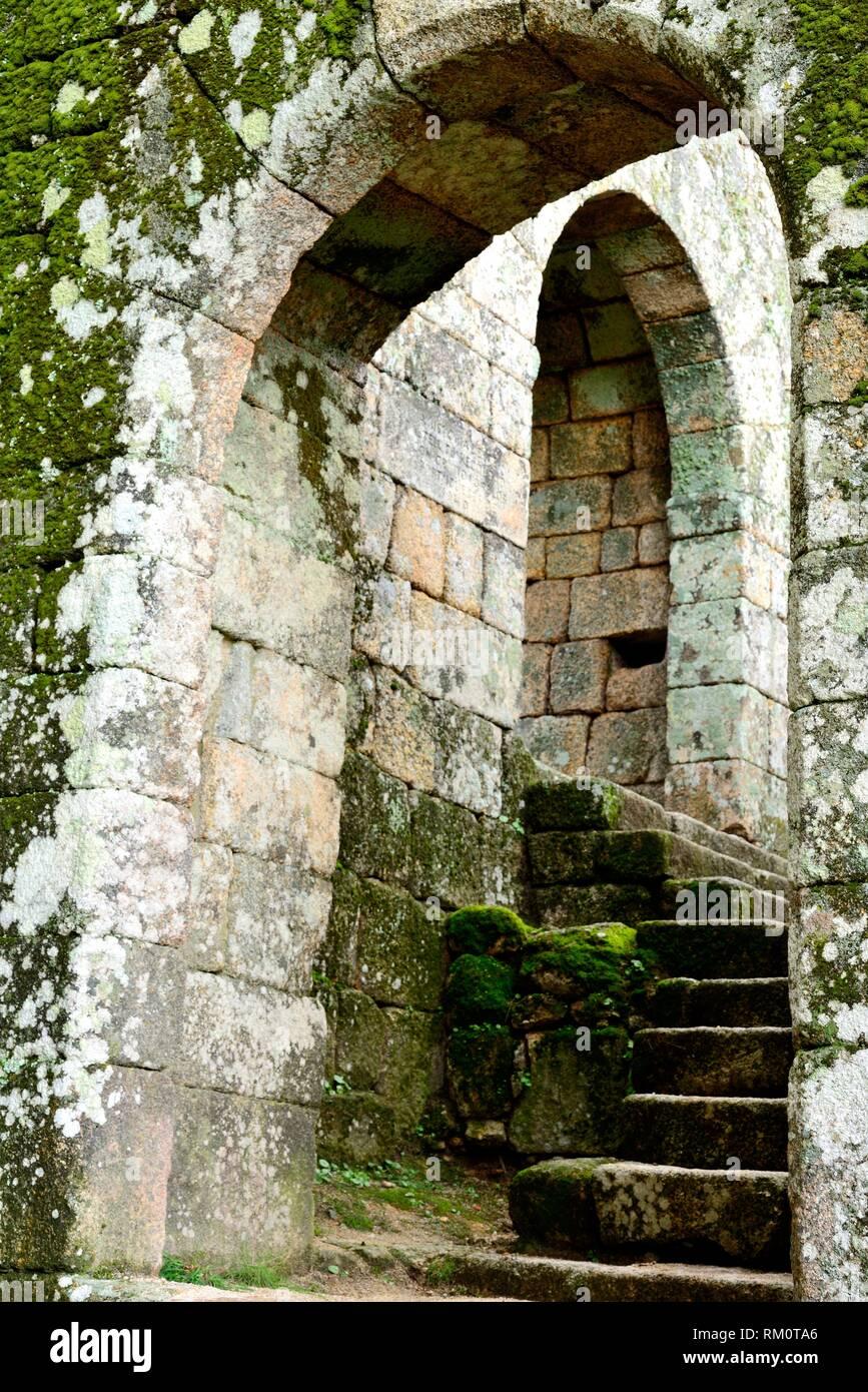 Entry to the castle of Monsanto, Castelo Branco, Portugal Stock Photo