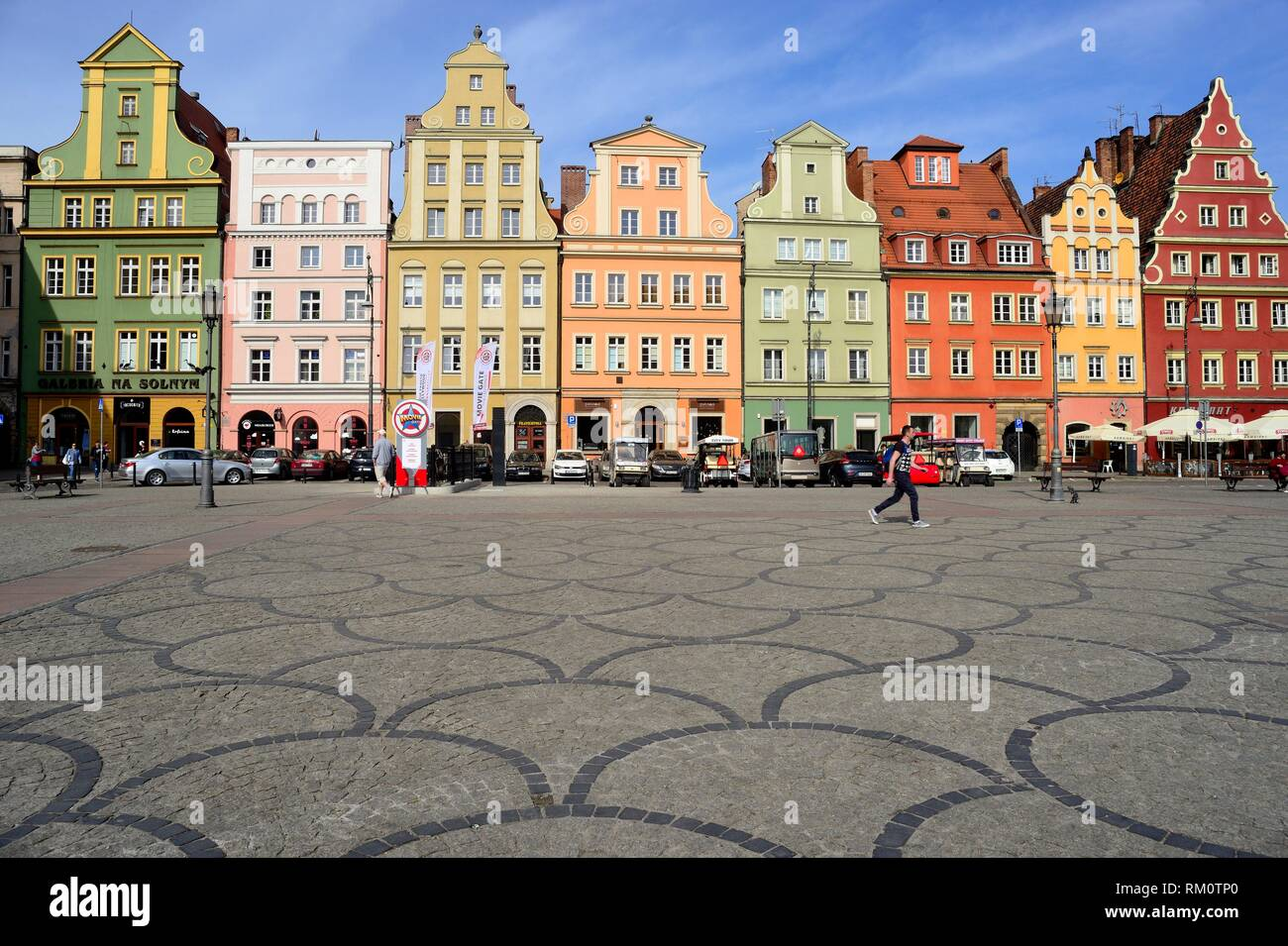 Salt square (Plac Solny) in Wroclaw or Breslau, Poland. - Stock Image