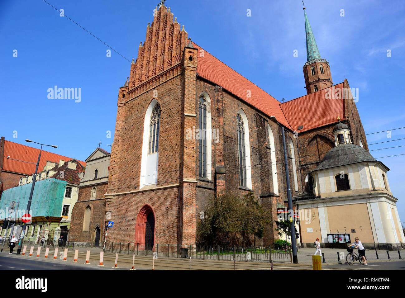 Dominican church of Wroclaw or Breslau, Poland. Stock Photo