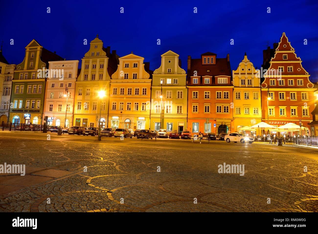 Salt square or Plac Solny, Wroclaw ''Breslau'', Poland. - Stock Image