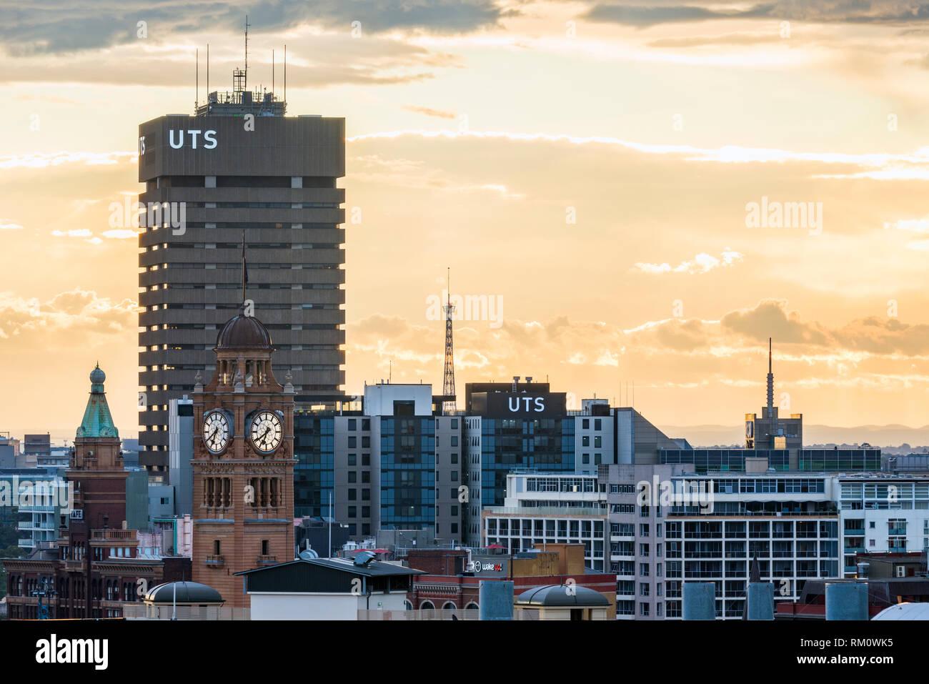 Evening sky in Sydney. Stock Photo