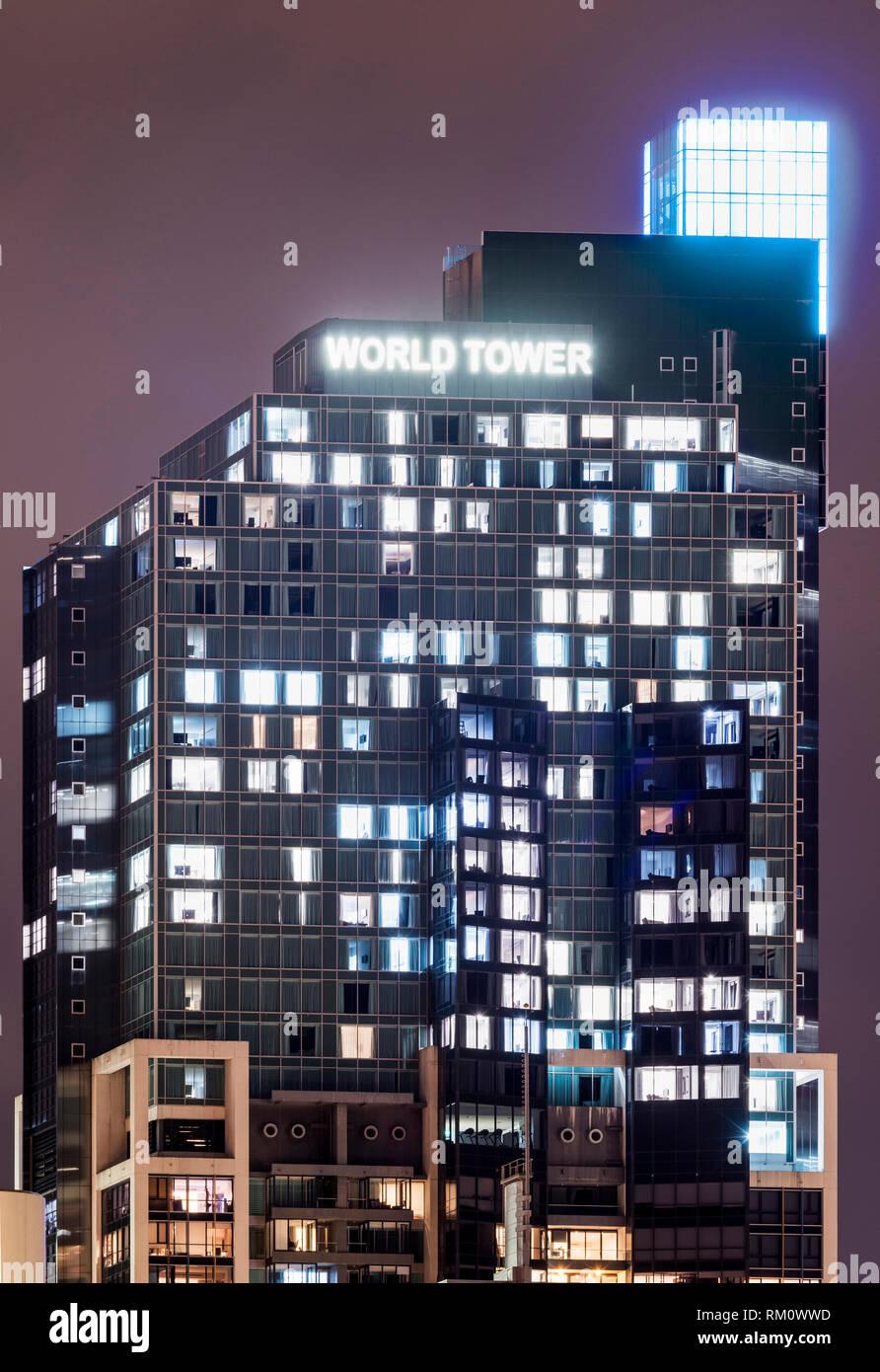 Sydney architecture at night. Stock Photo