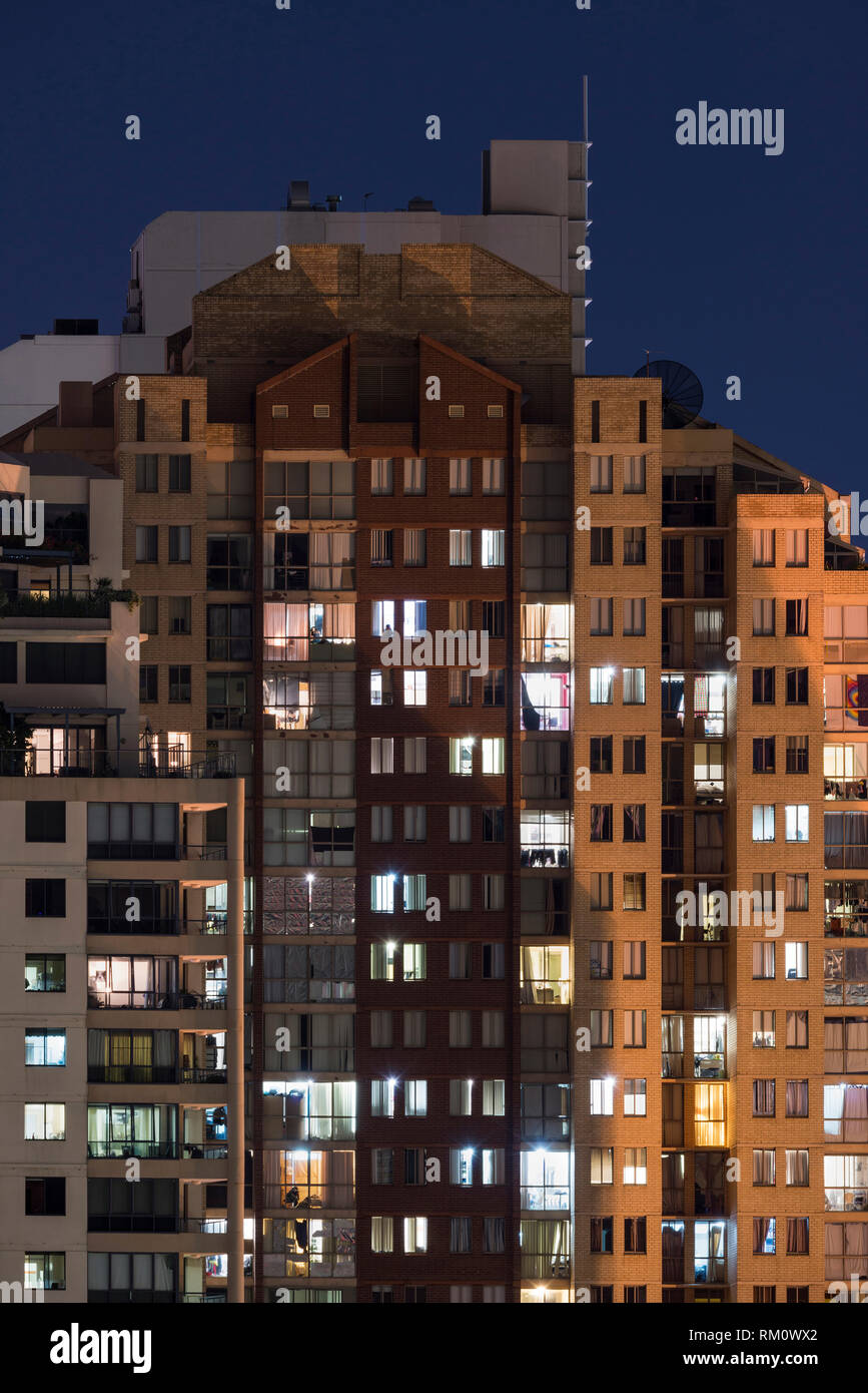 Sydney architecture at night. Stock Photo