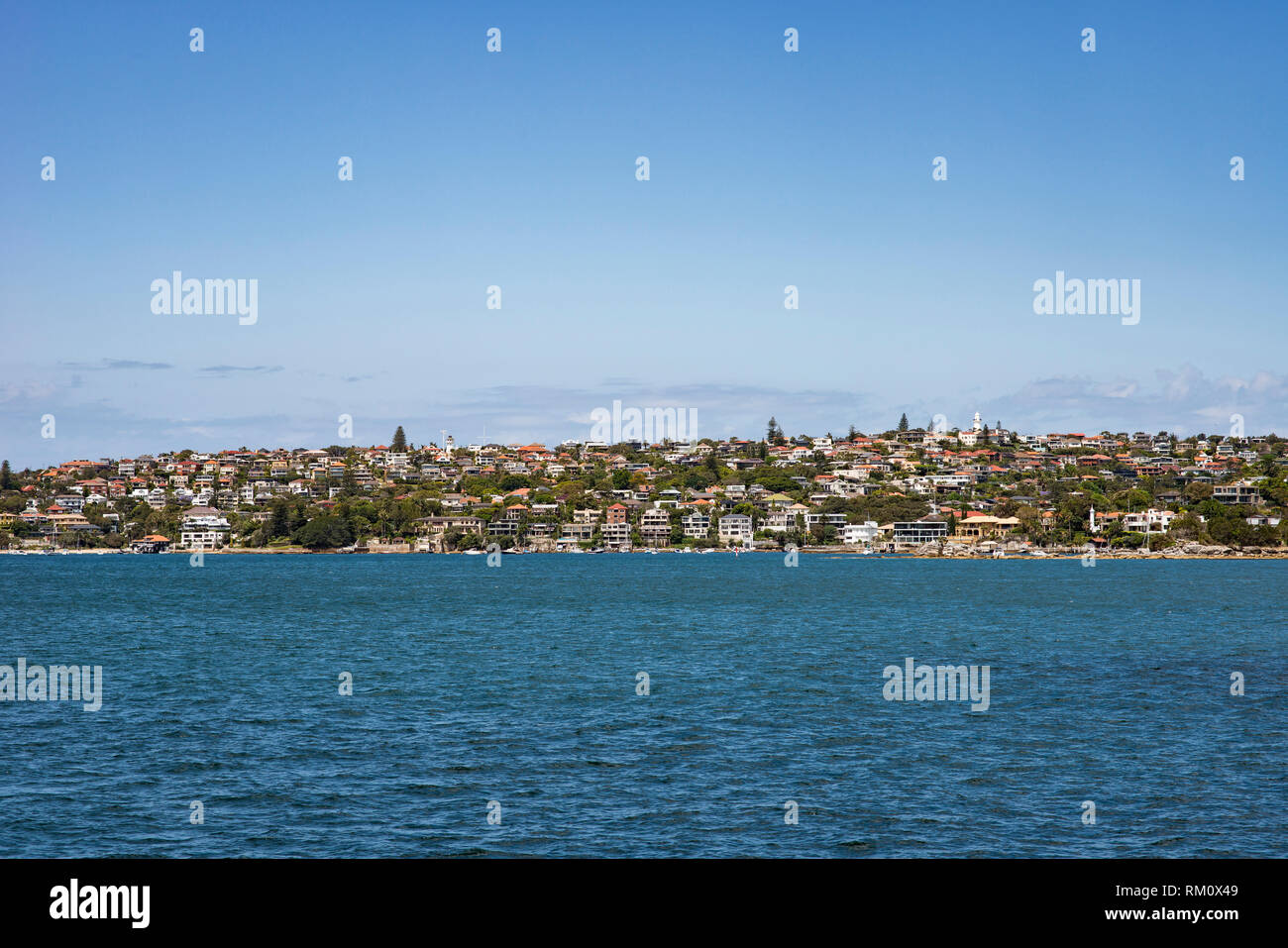 Ferry ride from Circular Quay to Manly in Sydney. Stock Photo