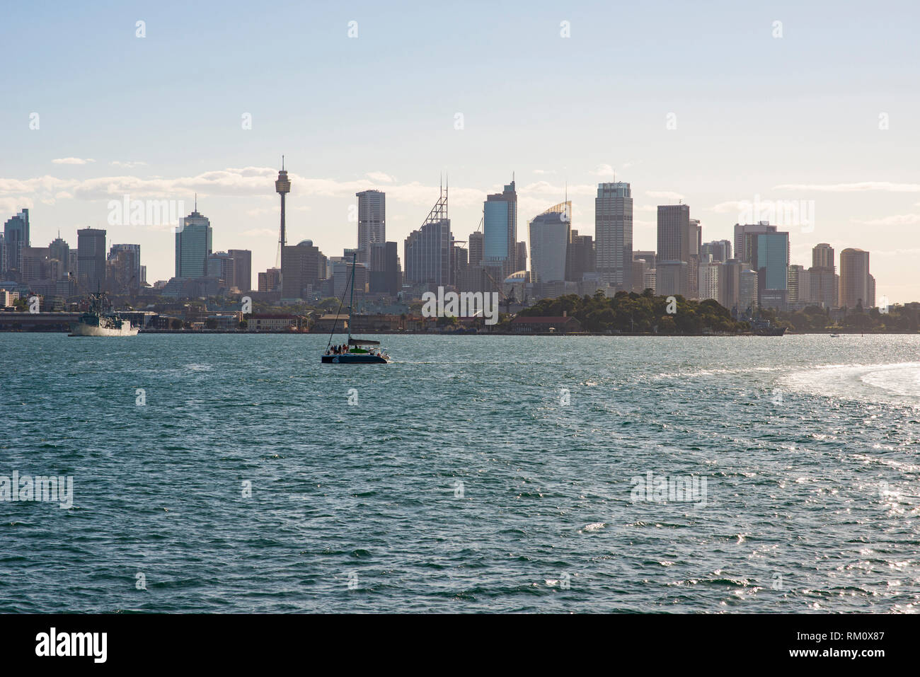 A view toward the Sydney skyline. Stock Photo