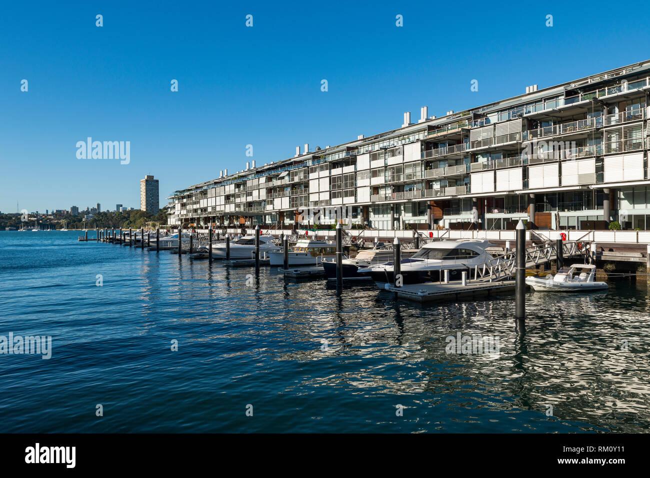 Waterside Sydney dwellings. Stock Photo
