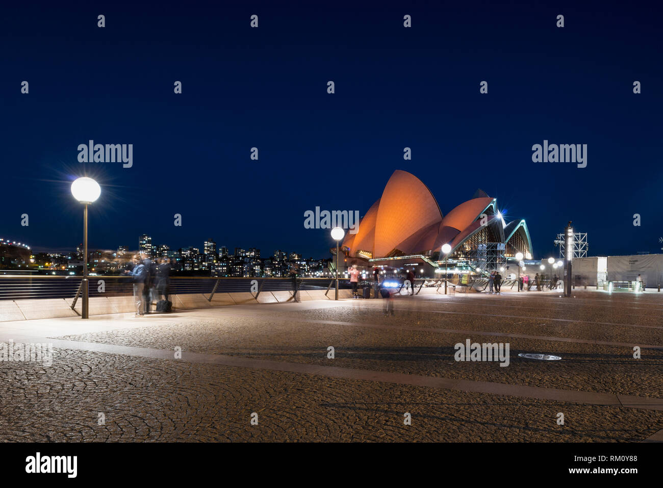 Sydney Opera house by night. Stock Photo