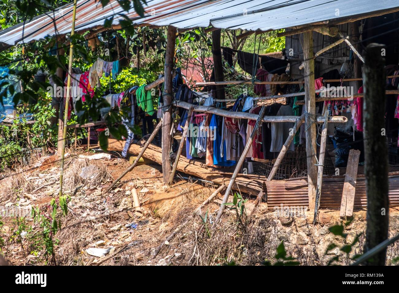 Hmong's Hilltribe Village, Doi Pui, Chiang Mai, Thailand - Stock Image